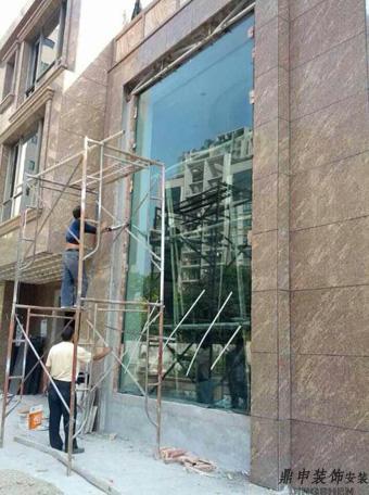 中山市别墅区安装大板玻璃
